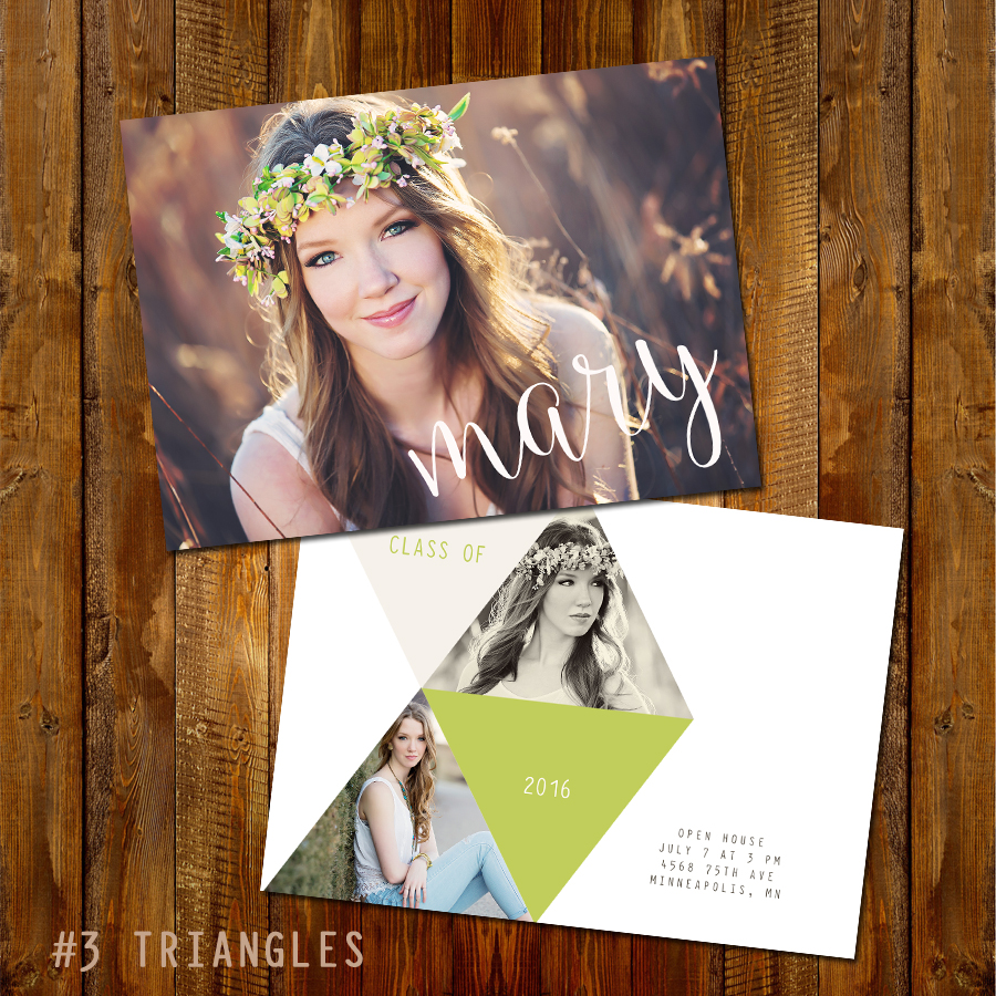#3 Triangles Grad Card